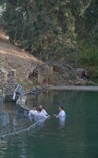 The Yardenite baptismal site along the Jordan commemorates the place where Jesus was baptized by John