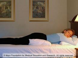 Sleeping on your abdomen