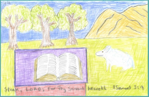 Speak, LORD; for Thy Servant heareth, I SAMUEL 3 : 9, drawn on Wednesday the 9th of October, 2019.