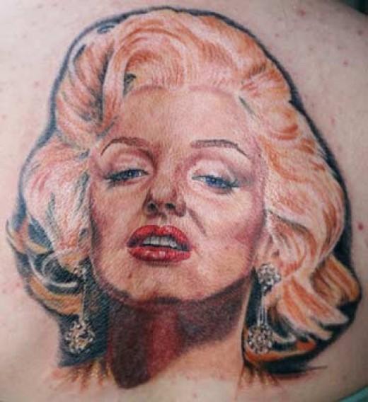 Marilyn Monroe Face Silhouette Tattoo Worst marilyn monroe tattoo?
