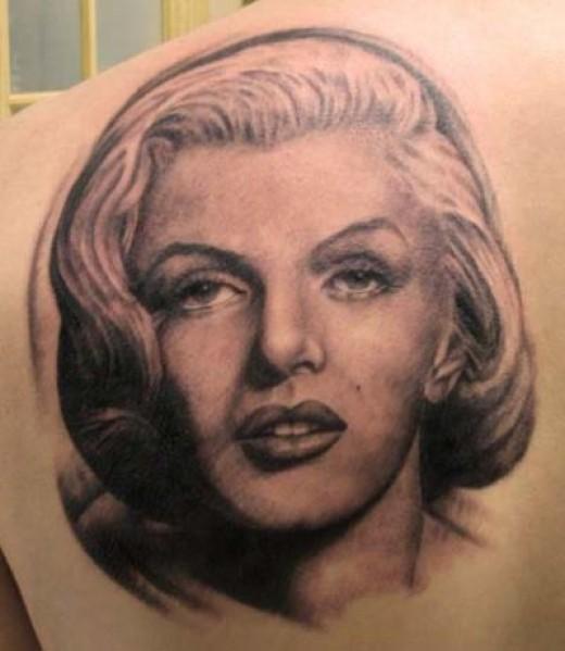 Marilyn Monroe Face Silhouette Tattoo Weird looking marilyn monroe
