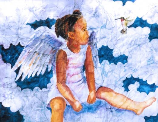 "Watercolor ""The Hummingbird"""