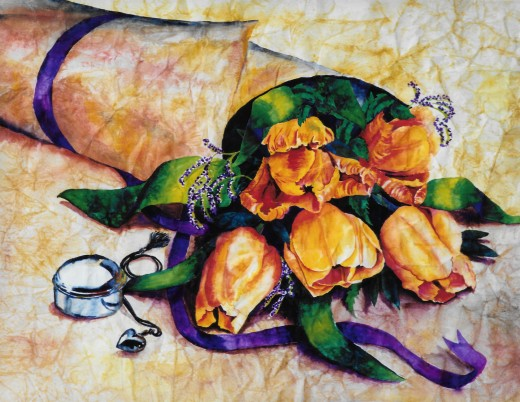 """Watercolor """"Tulip Wrap"""""""