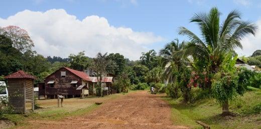 A street in French Guiana