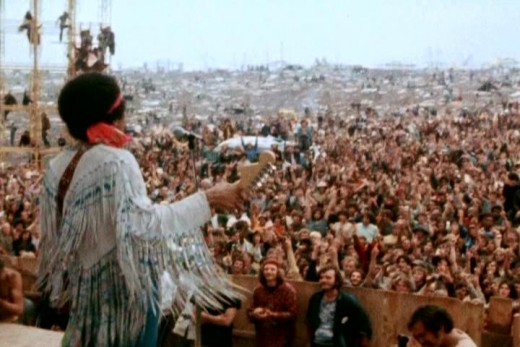 Jimi Hendrix at Woodstock 1969