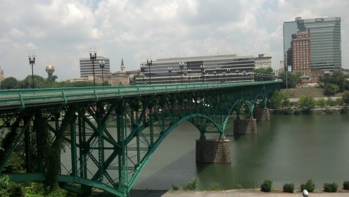 City skyline at the Tennessee River downtown.