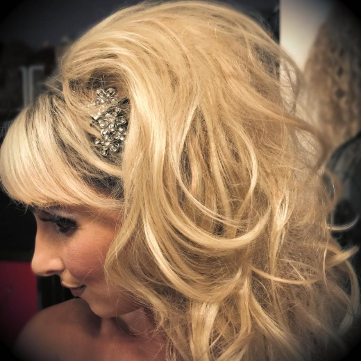 """Me in one of my """"well-loved"""" hairpieces."""