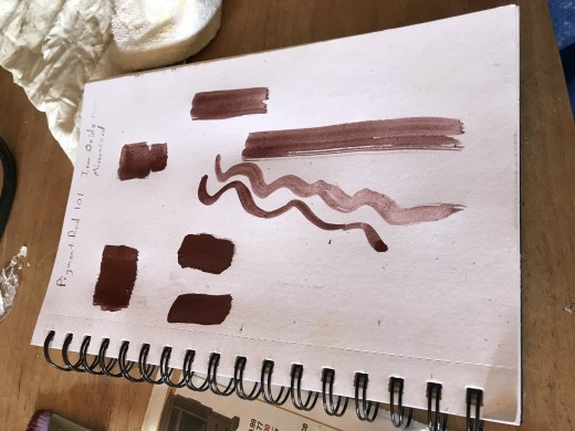 Paint Swatches in My Sketch Book