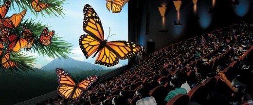 Another view of IMAX experience, this time with butterflies
