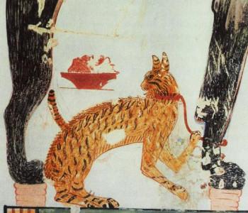 """1479–1425 b.c. """"Cat Painting"""""""