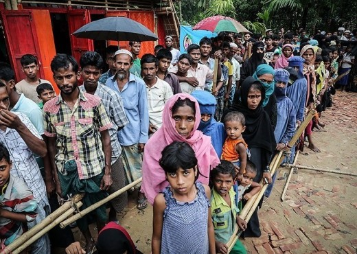 Rohingyas at the Kutupalong refugee camp in Bangladesh, October 2017