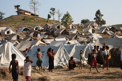 Emergency food, drinking water and shelter to help people displaced in Rakhine State, western Burma, 2012.