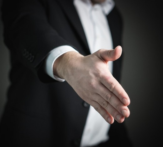 The importance of a firm handshake!