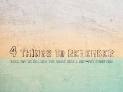 4 Reminders for Evangelism