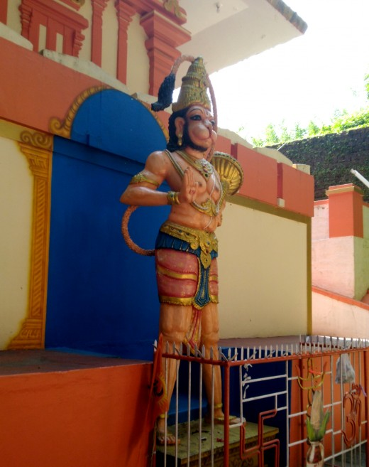 Hanuman Temple by the Kumbla Fort