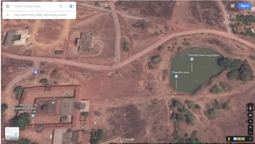 Google Map view of Mujungav Temple area