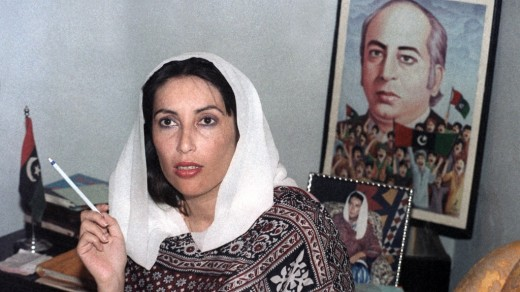 Benazir with Ali Bhutto her father-both done to death