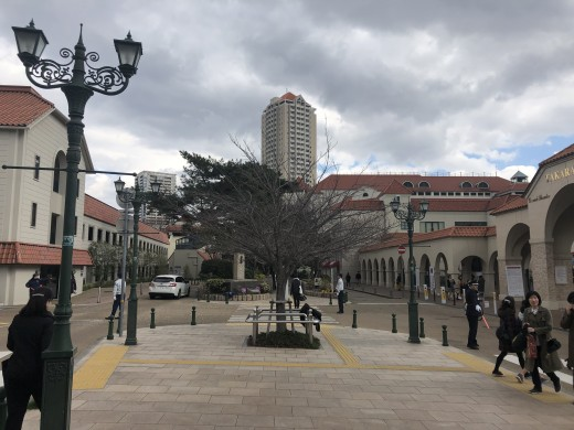 Early spring outside The Takarazuka Grand Theater