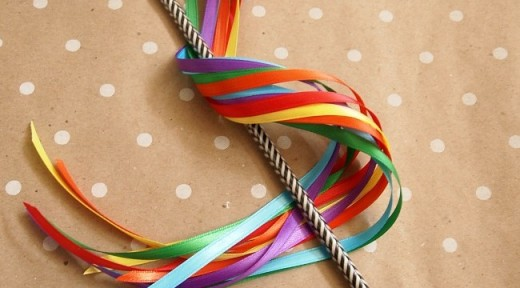 Ribbon wands can be used for birthday parties as favors