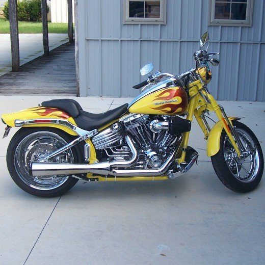 Custom Painted Harley Davidson Motorcycle - Flame Job