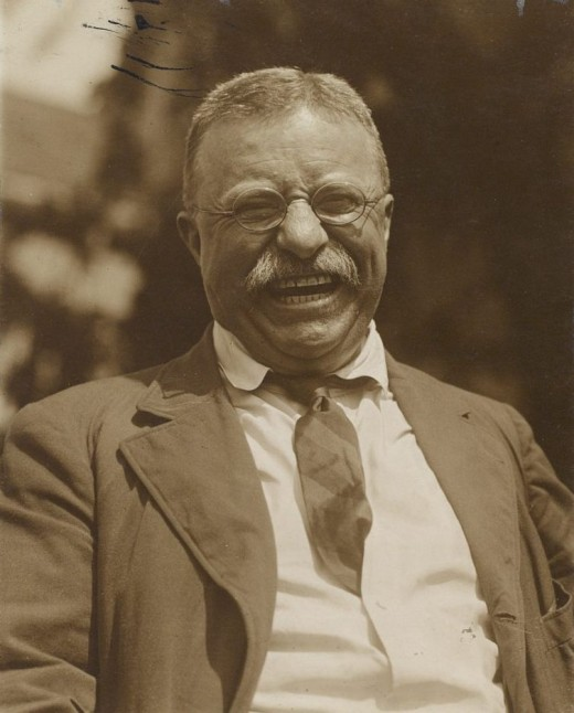 """Teddy Roosevelt, the greatest example of American """"primitive"""" masculinity in the late 19th and early 20th century and a vigorous proponent of imperialism."""