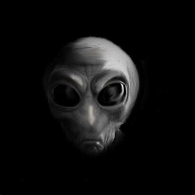 "A common depiction of a ""grey alien"""