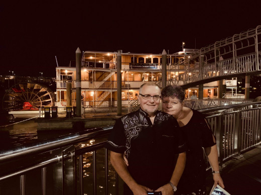 Night on the riverboat, Brisbane River