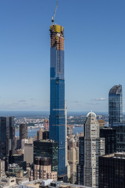 Central Park Tower under construction in late 2019