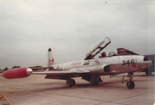 A Canadian Air Force T-33, Randolph AFB, May 1982.