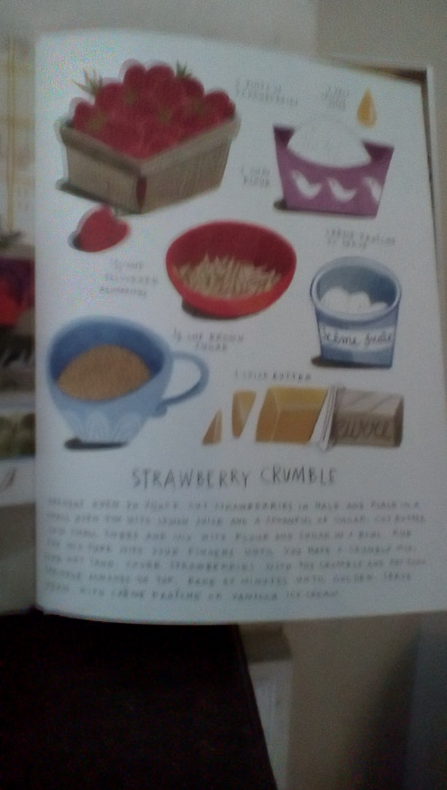 Recipe for strawberry crumble