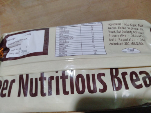 Bread from the  bakery has at least 4 or more chemical ingredients
