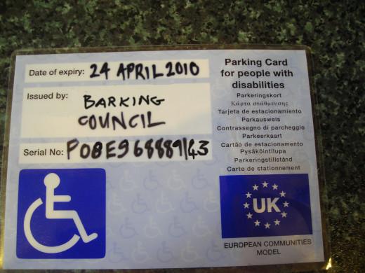 Blue Badge for Parking