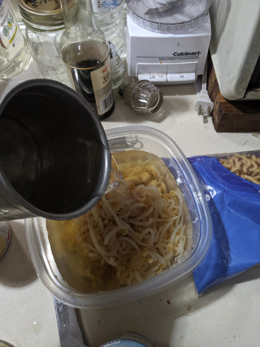 Add water for rice a Roni to vegies water  add soy sauce