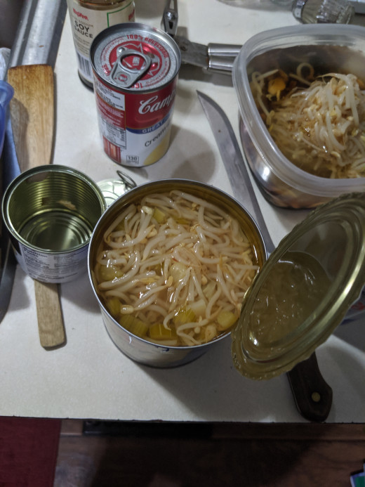 Bean sprouts - retain bean sprouts water