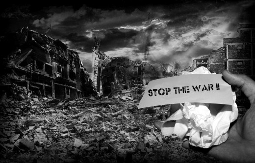 Stop the War message