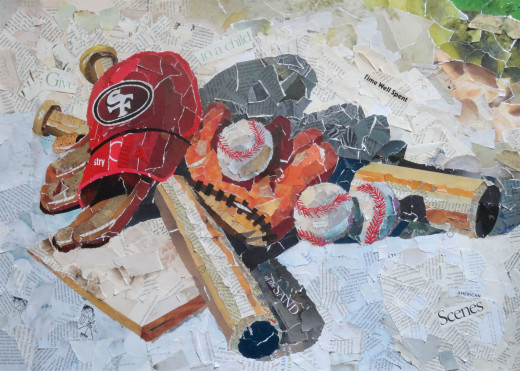 Forty-Niner Home Plate collage