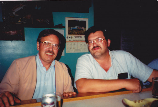 From left to right:  author and younger brother.  Picture taken in August 1992