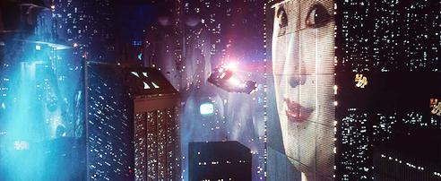 Skyscrapers in Blade Runner's 2019.