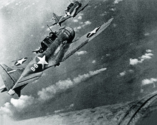 Official U.S. Navy photo 80-G-17054, taken during the Battle of Midway