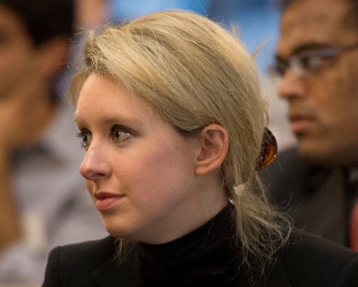 Elizabeth Holmes, the CEO and founder of Theranos, a healthcare technology company.