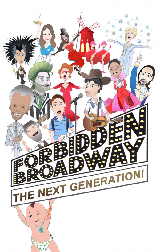 "Production art for ""Forbidden Broadway: The Next Generation"""