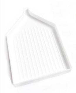 A large white tray for diamond painting drills
