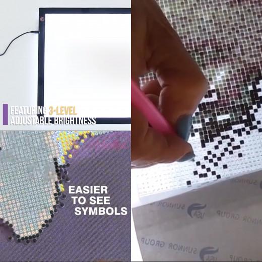 LED light pad for diamond painting
