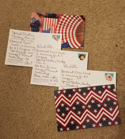 Using Postcards for Political Action
