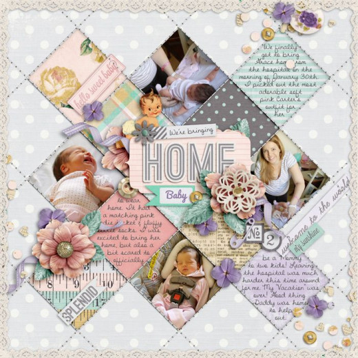 Sewing on scrapbook pages add interest and detail to your pages