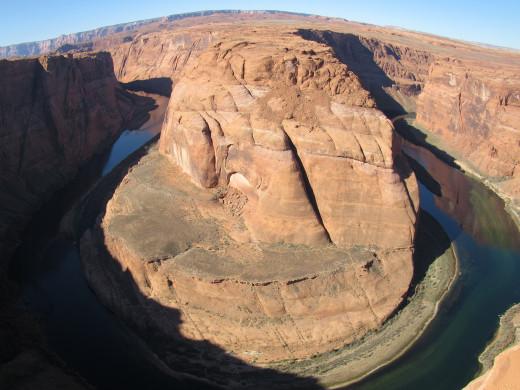 fish-eye of Horseshoe Bend