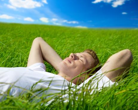 Man Resting on grass