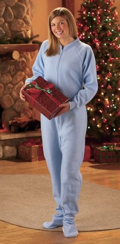 Footie pajamas are great for the holidays!