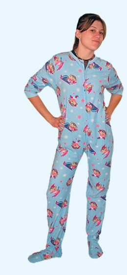 Footie pajamas are fun for all ages!