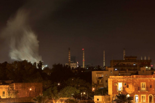 A photo of Taranto with the steelworks that is poisoning the city in the background. Aftrer reading what is happening here, we can say that humanity is destroyng the planed. In this corner of the earth this is even worse than plain blobal warming. .
